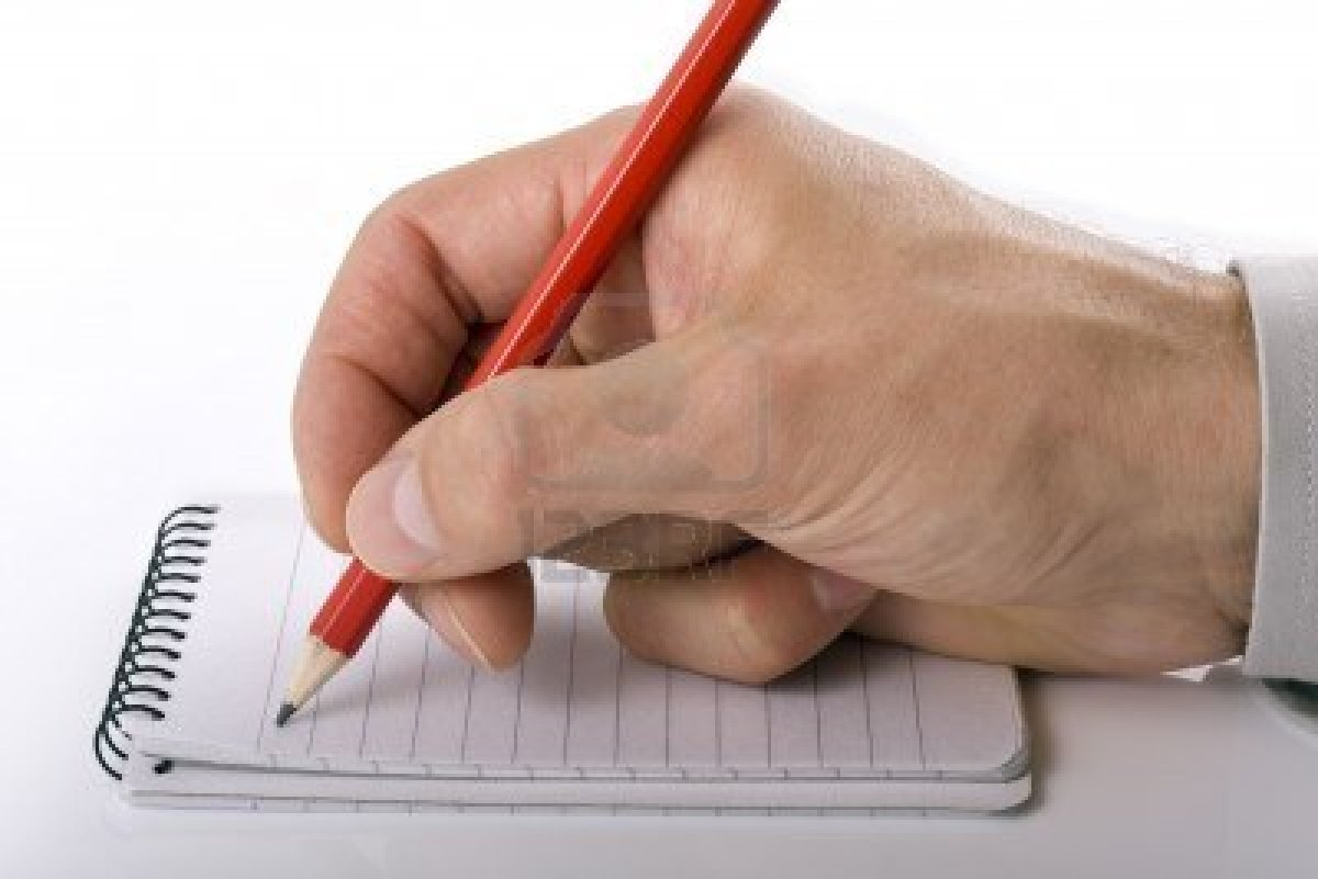 Writing down notes